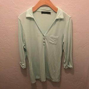 The Limited Small mint green 3/4 sleeve cotton top